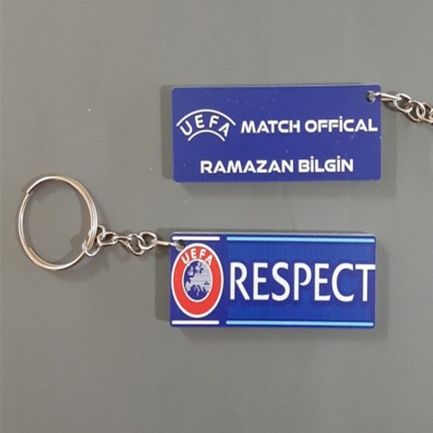 Personalized UEFA / RESPECT Keychains