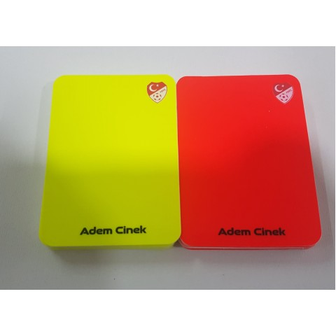 Personalized Yellow Red Card