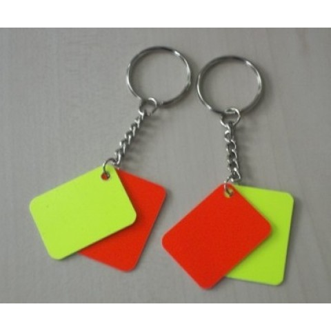 Personalized Yellow Red Keychain